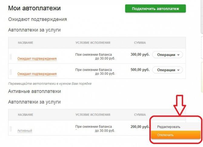 Инструкция, как отключить Автоплатеж через Сбербанк Онлайн