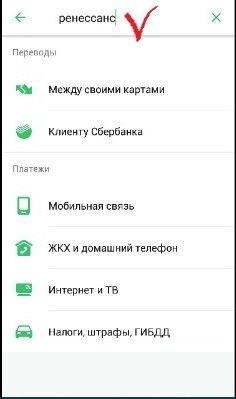 Погашение кредита в банке Ренессанс через приложение Сбербанка